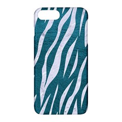 Skin3 White Marble & Teal Leather Apple Iphone 7 Plus Hardshell Case by trendistuff