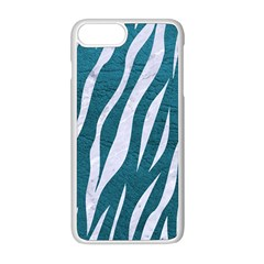 Skin3 White Marble & Teal Leather Apple Iphone 8 Plus Seamless Case (white) by trendistuff