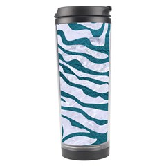 Skin2 White Marble & Teal Leather (r) Travel Tumbler by trendistuff