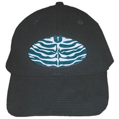 Skin2 White Marble & Teal Leather Black Cap by trendistuff
