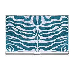 Skin2 White Marble & Teal Leather Business Card Holders by trendistuff