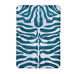 Skin2 White Marble & Teal Leather Samsung Galaxy Tab 2 (10 1 ) P5100 Hardshell Case  by trendistuff