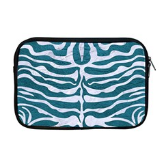 Skin2 White Marble & Teal Leather Apple Macbook Pro 17  Zipper Case by trendistuff