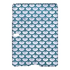 Scales3 White Marble & Teal Leather (r) Samsung Galaxy Tab S (10 5 ) Hardshell Case