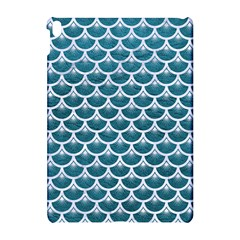 Scales3 White Marble & Teal Leather Apple Ipad Pro 10 5   Hardshell Case