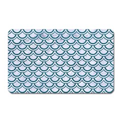 Scales2 White Marble & Teal Leather (r) Magnet (rectangular) by trendistuff