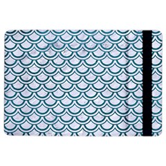 Scales2 White Marble & Teal Leather (r) Ipad Air 2 Flip by trendistuff