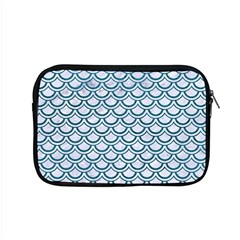 Scales2 White Marble & Teal Leather (r) Apple Macbook Pro 15  Zipper Case by trendistuff