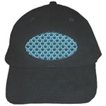 SCALES2 WHITE MARBLE & TEAL LEATHER Black Cap Front