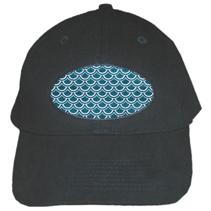 SCALES2 WHITE MARBLE & TEAL LEATHER Black Cap