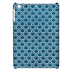 Scales2 White Marble & Teal Leather Apple Ipad Mini Hardshell Case by trendistuff