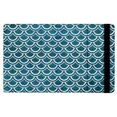 Scales2 White Marble & Teal Leather Apple Ipad Pro 9 7   Flip Case by trendistuff