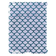 Scales1 White Marble & Teal Leather (r) Apple Ipad 3/4 Hardshell Case (compatible With Smart Cover) by trendistuff