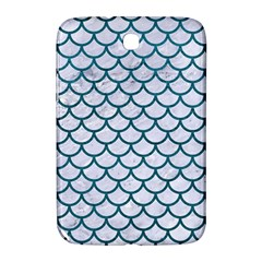Scales1 White Marble & Teal Leather (r) Samsung Galaxy Note 8 0 N5100 Hardshell Case  by trendistuff