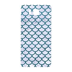 Scales1 White Marble & Teal Leather (r) Samsung Galaxy Alpha Hardshell Back Case by trendistuff