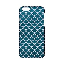 Scales1 White Marble & Teal Leather Apple Iphone 6/6s Hardshell Case by trendistuff