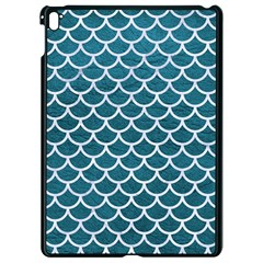 Scales1 White Marble & Teal Leather Apple Ipad Pro 9 7   Black Seamless Case by trendistuff