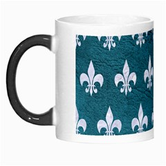 Royal1 White Marble & Teal Leather (r) Morph Mugs by trendistuff