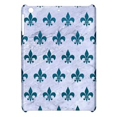 Royal1 White Marble & Teal Leather Apple Ipad Mini Hardshell Case by trendistuff