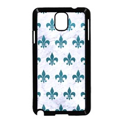 Royal1 White Marble & Teal Leather Samsung Galaxy Note 3 Neo Hardshell Case (black) by trendistuff