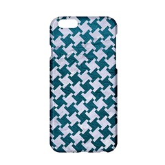 Houndstooth2 White Marble & Teal Leather Apple Iphone 6/6s Hardshell Case by trendistuff