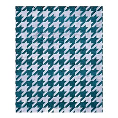 Houndstooth1 White Marble & Teal Leather Shower Curtain 60  X 72  (medium)  by trendistuff