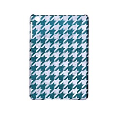 Houndstooth1 White Marble & Teal Leather Ipad Mini 2 Hardshell Cases by trendistuff