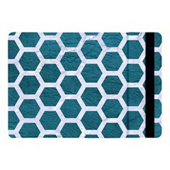 Hexagon2 White Marble & Teal Leather Apple Ipad Pro 10 5   Flip Case by trendistuff