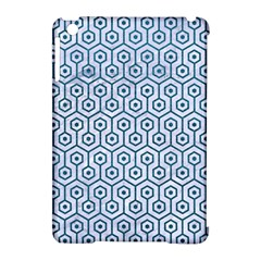 Hexagon1 White Marble & Teal Leather (r) Apple Ipad Mini Hardshell Case (compatible With Smart Cover) by trendistuff