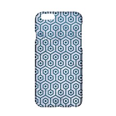 Hexagon1 White Marble & Teal Leather (r) Apple Iphone 6/6s Hardshell Case by trendistuff