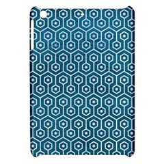Hexagon1 White Marble & Teal Leather Apple Ipad Mini Hardshell Case by trendistuff