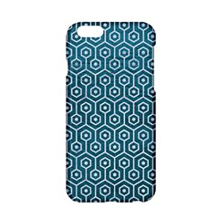 Hexagon1 White Marble & Teal Leather Apple Iphone 6/6s Hardshell Case by trendistuff