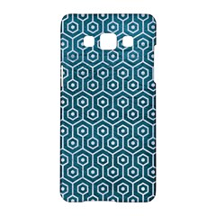 Hexagon1 White Marble & Teal Leather Samsung Galaxy A5 Hardshell Case  by trendistuff