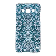Damask2 White Marble & Teal Leather Samsung Galaxy A5 Hardshell Case  by trendistuff