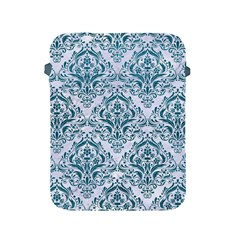 Damask1 White Marble & Teal Leather (r) Apple Ipad 2/3/4 Protective Soft Cases by trendistuff