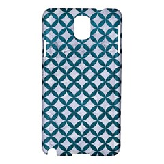 Circles3 White Marble & Teal Leather (r) Samsung Galaxy Note 3 N9005 Hardshell Case by trendistuff