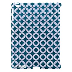 Circles3 White Marble & Teal Leather Apple Ipad 3/4 Hardshell Case (compatible With Smart Cover) by trendistuff