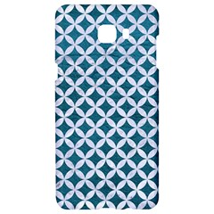 Circles3 White Marble & Teal Leather Samsung C9 Pro Hardshell Case  by trendistuff