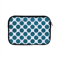 Circles2 White Marble & Teal Leather (r) Apple Macbook Pro 15  Zipper Case by trendistuff