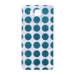 Circles1 White Marble & Teal Leather (r) Samsung Galaxy Alpha Hardshell Back Case by trendistuff