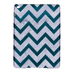 Chevron9 White Marble & Teal Leather (r) Ipad Air 2 Hardshell Cases by trendistuff