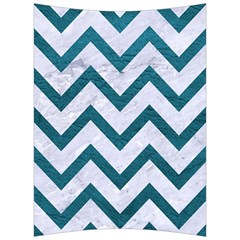 Chevron9 White Marble & Teal Leather (r) Back Support Cushion by trendistuff