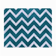Chevron9 White Marble & Teal Leather Small Glasses Cloth by trendistuff