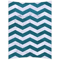 Chevron3 White Marble & Teal Leather Back Support Cushion by trendistuff