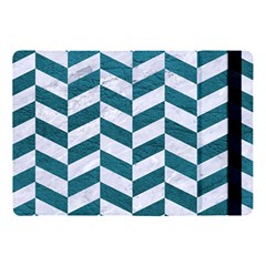 Chevron1 White Marble & Teal Leather Apple Ipad Pro 10 5   Flip Case by trendistuff