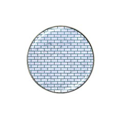 Brick1 White Marble & Teal Leather (r) Hat Clip Ball Marker (10 Pack) by trendistuff