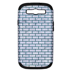 Brick1 White Marble & Teal Leather (r) Samsung Galaxy S Iii Hardshell Case (pc+silicone) by trendistuff