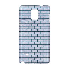 Brick1 White Marble & Teal Leather (r) Samsung Galaxy Note 4 Hardshell Case by trendistuff
