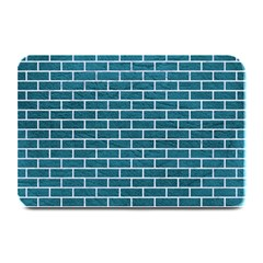 Brick1 White Marble & Teal Leather Plate Mats by trendistuff