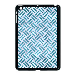 Woven2 White Marble & Teal Brushed Metal (r) Apple Ipad Mini Case (black) by trendistuff